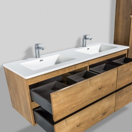 Vasque double en solid surface