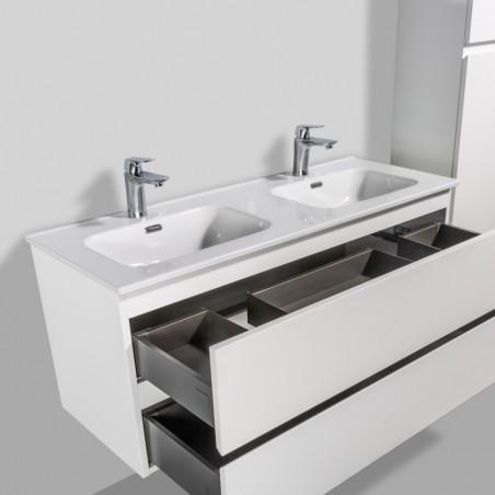Plan vasque double en céramique