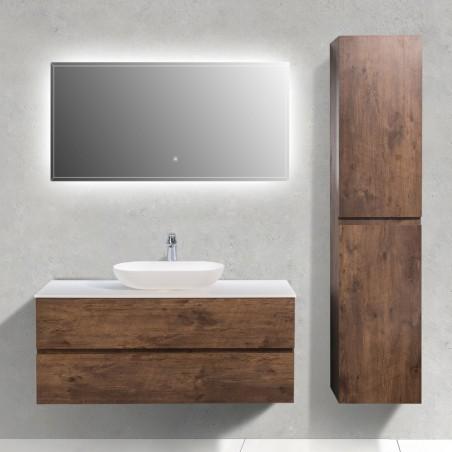 Ensemble meuble de salle de bain Singapour 120 cm | Chêne foncé