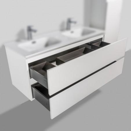 Meuble sous-vasque | Trinité 120cm double blanc laqué