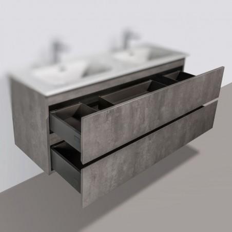 Meuble sous-vasque | Trinité 120cm double béton