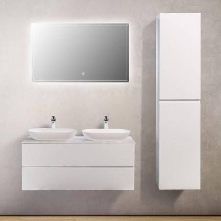 Ensemble meuble de salle de bain Singapour 120 cm | Blanc laqué mat