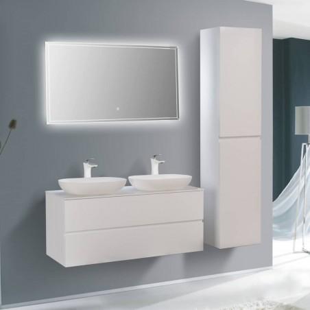 Ensemble meuble de salle de bain Singapour 120 cm | Blanc laqué brillant
