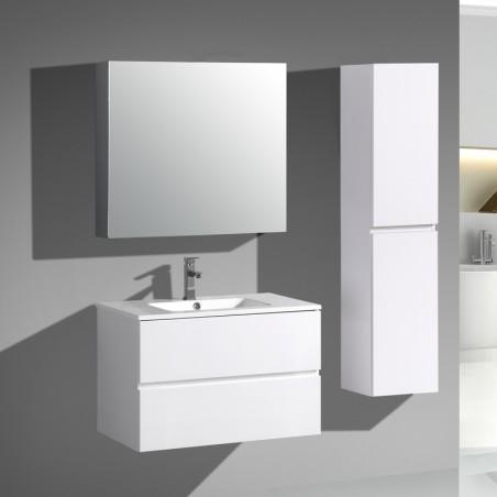 Pack Trinité 80cm Blanc brillant | simple vasque