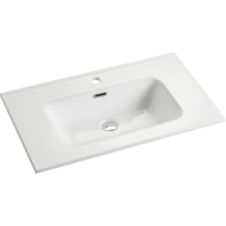 Vasque céramique 80cm Blanc brillant | simple vasque