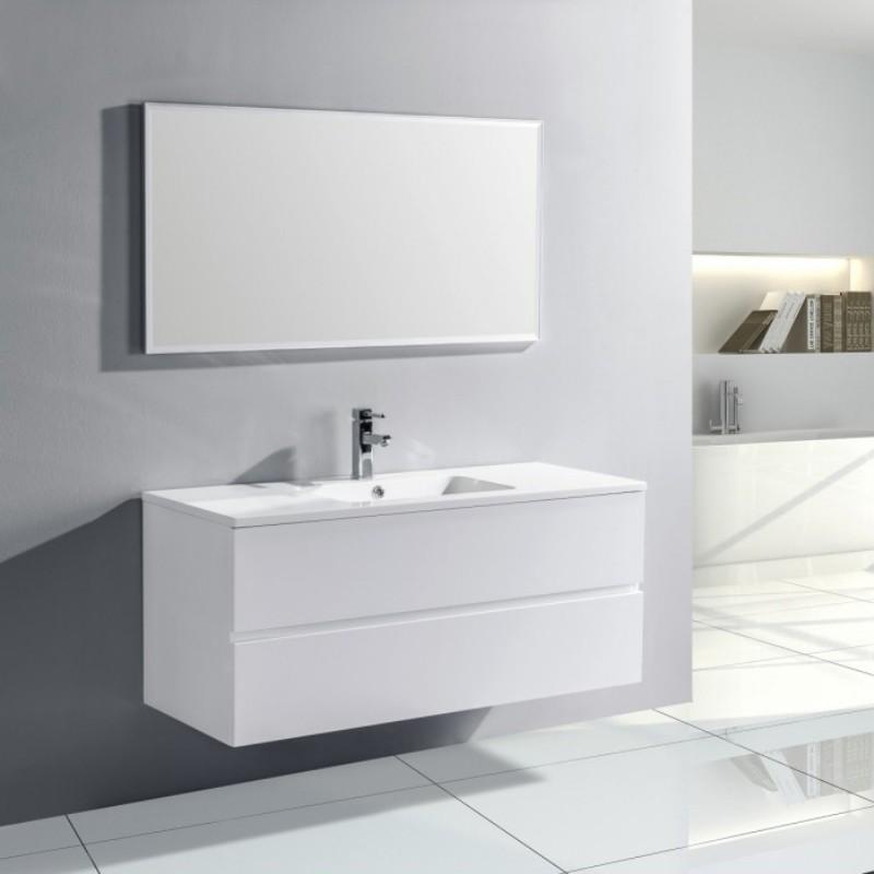 Pack Trinité 120cm Blanc brillant | simple vasque