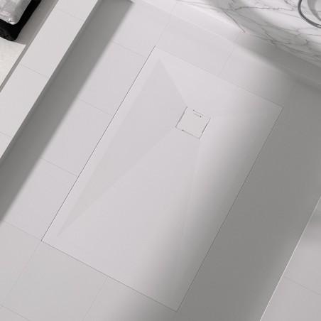 Receveur Duplach Stone HIDDEN Blanc