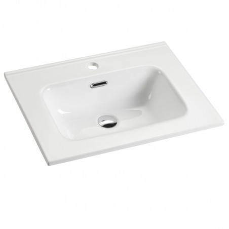 Plan vasque simple en céramique
